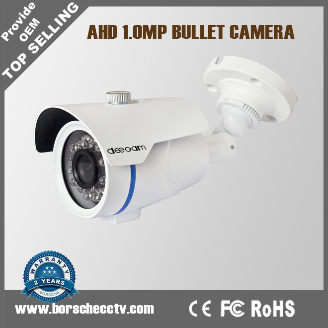 HD Analog 20M IR Distance Fixed Lens IP68 Weatherproof 720P Bullet AHD Camera